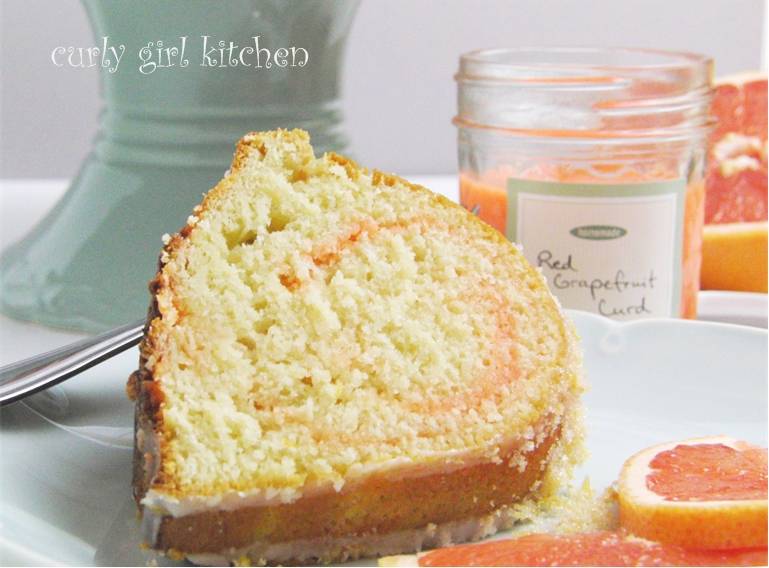 Curly Girl Kitchen: Citrus Swirl Bundt Cake and Red Grapefruit Curd
