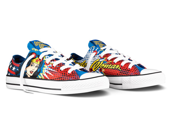 DC Comics и Converse Chuck Taylor All Star Low Wonder Woman Edition
