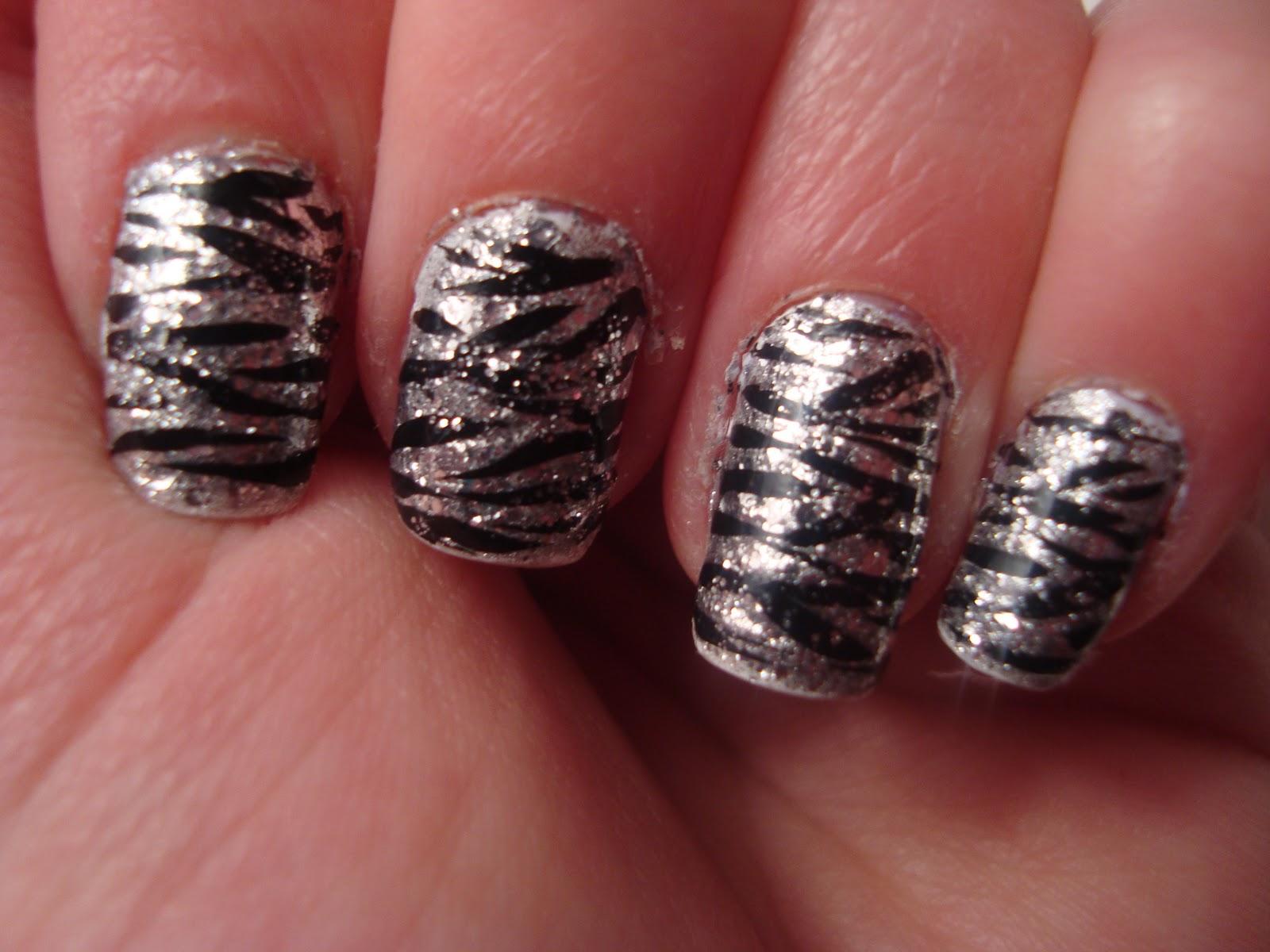 Flower Nail Design Black Nail - 2015 Best Nails Design Ideas