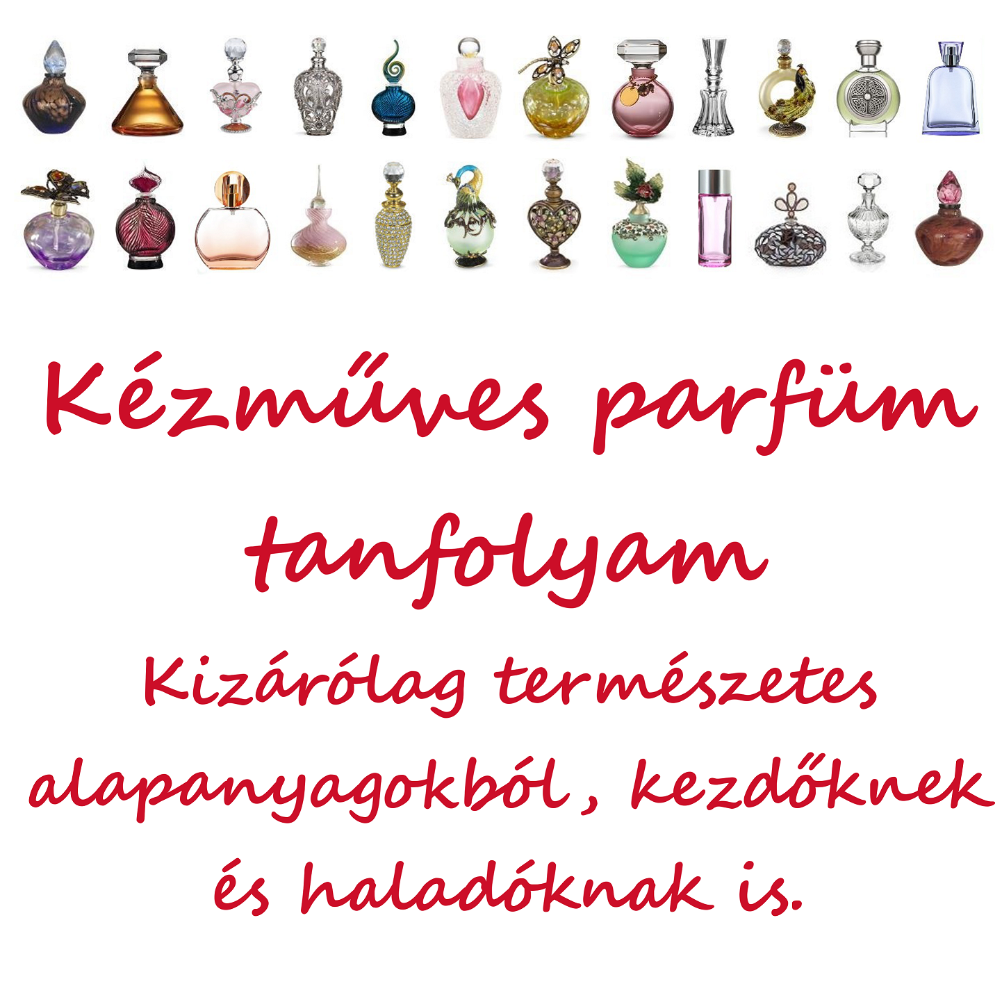 Parfüm készítő tanfolyam
