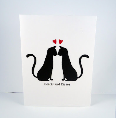 kitty valentines day card two cats kissing