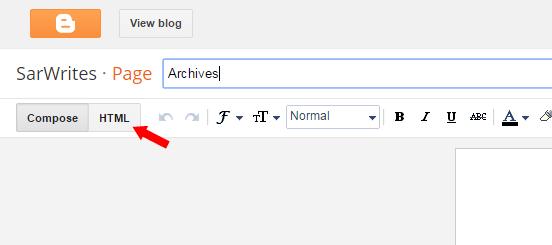 طريقة اضافة فهرس لمدونة بلوجر
