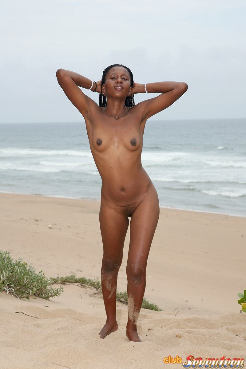 Naked Brasilian Girl On Beach