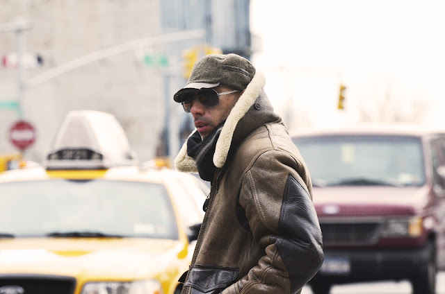 NYFW, streetstyle, sheepskin jacket, cold, menswear, snappylifestyle