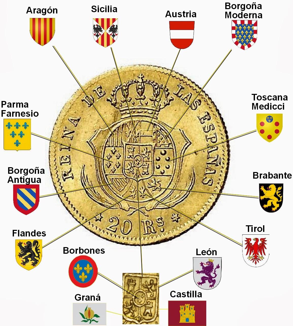 isabel II 40 reales 1863 madrid 20+REALES