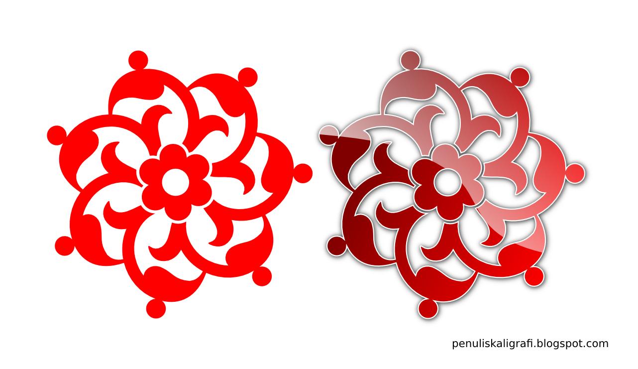 Ornamen yang biasa digunakan untuk pembatas ayat al-quran