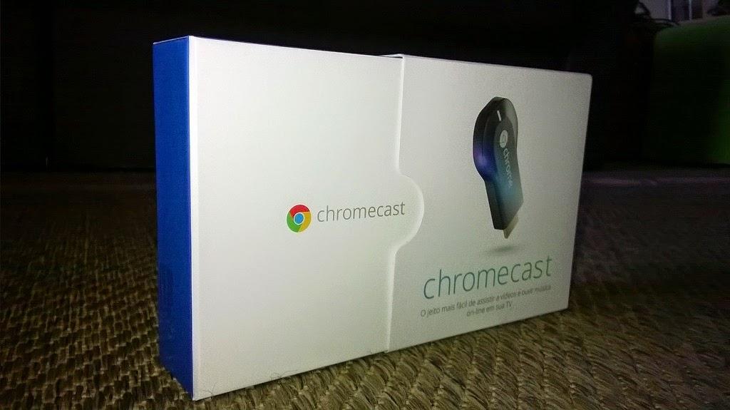 google chromecast caixa frente