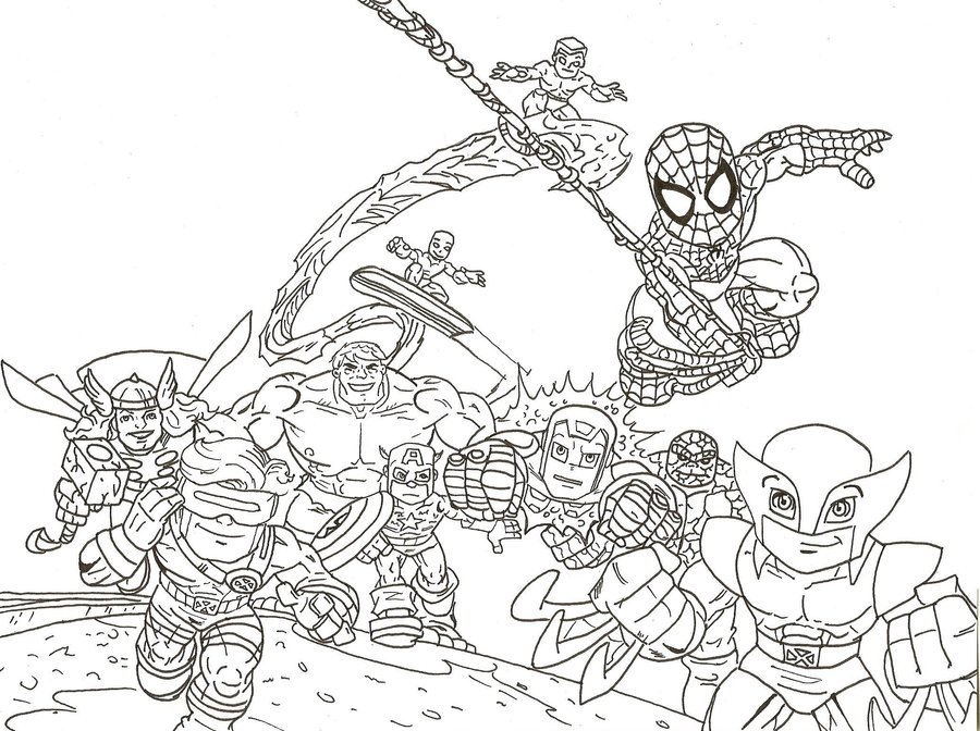 Lego Marvel Super Hero Coloring Pages