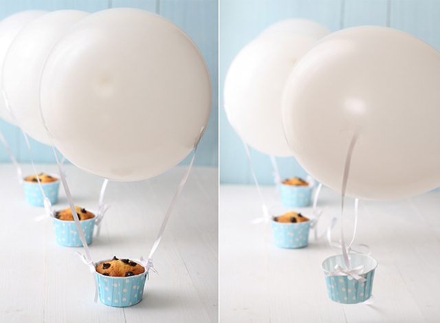 cupcakes balão
