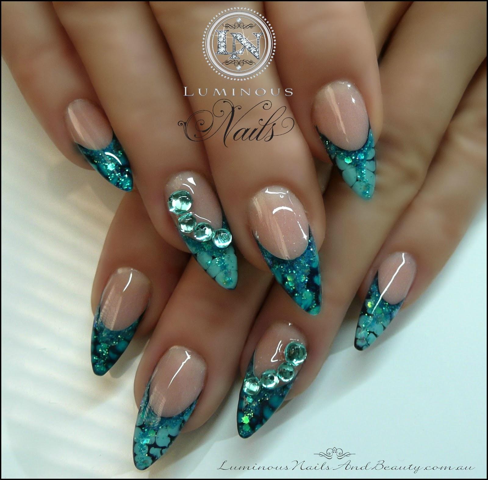 Snake Skin Effect Nails...
