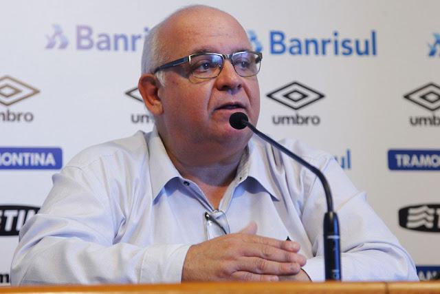 Romildo Bolzan é o atual presidente do Grêmio (Foto: Lucas Uebel/Grêmio FBPA)