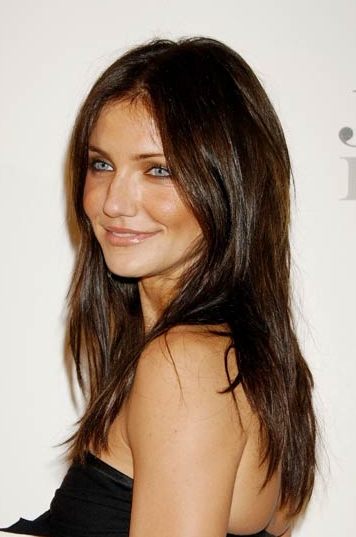 Cameron Diaz with Dark Hair