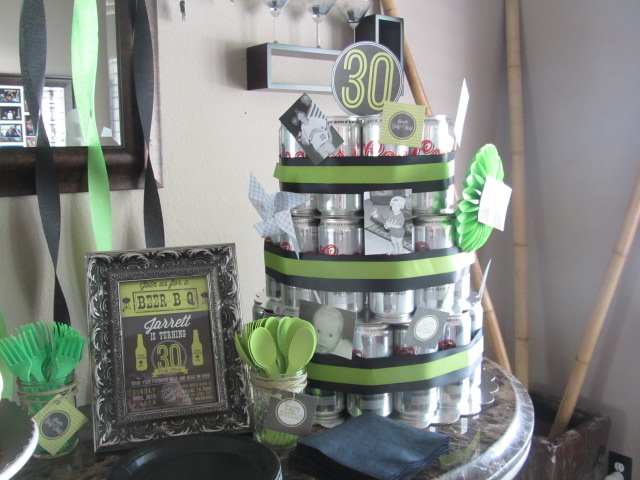 Baby g makes three j 39 s dirty 30 for 30 birthday decoration ideas