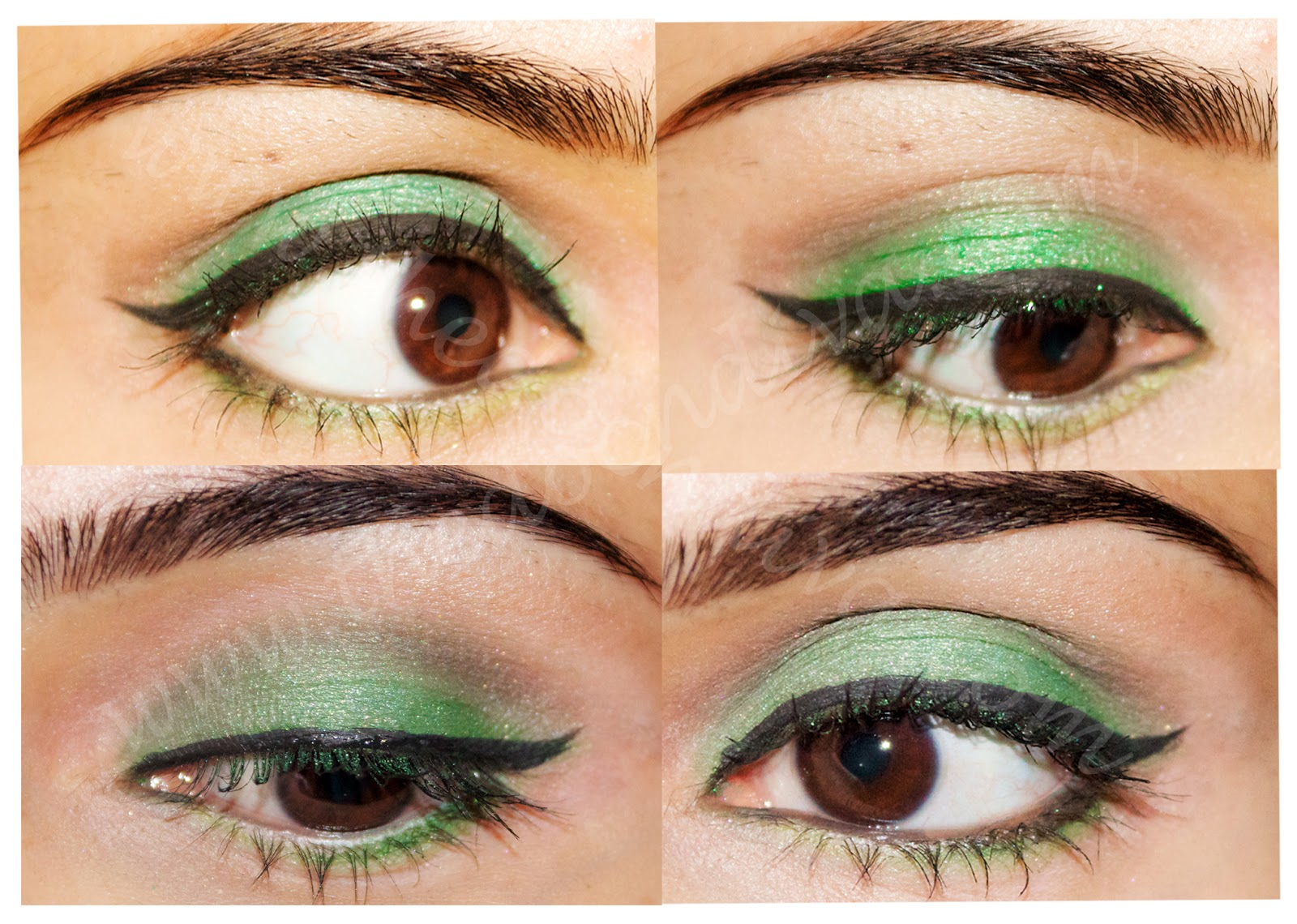 Макияж глаз под зеленое платье
