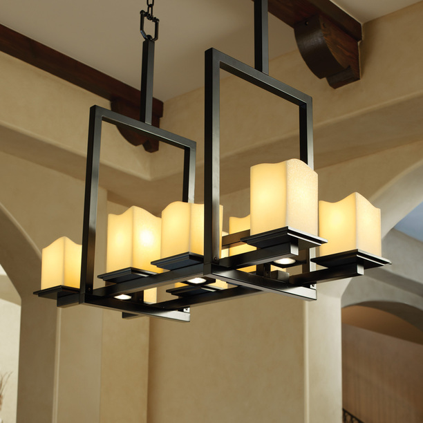 Modern Interior Design : Contemporary Black Faux Candle Chandeliers ...