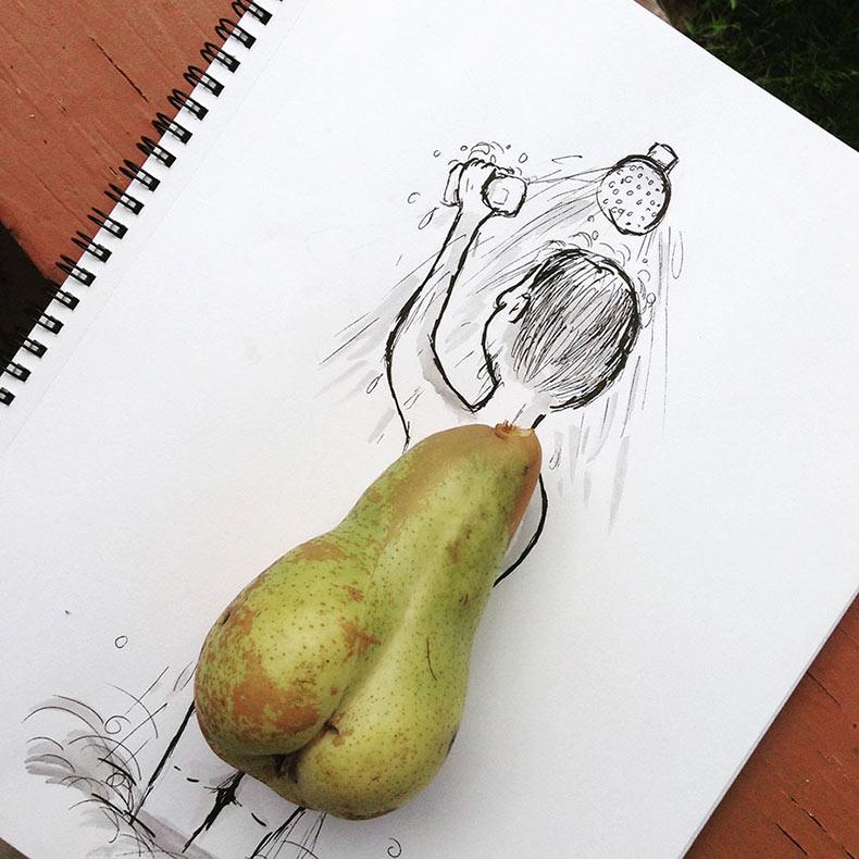 Artista Checo usa objetos cotidianos para crear divertidas Ilustraciones