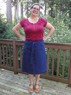 S4086, skirt, front view