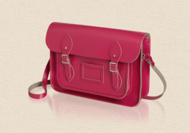 bright pink satchel