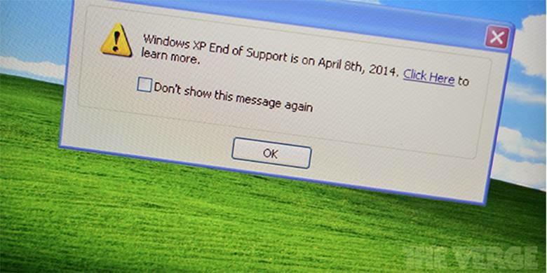 Peringatan bagi Pengguna Windows XP