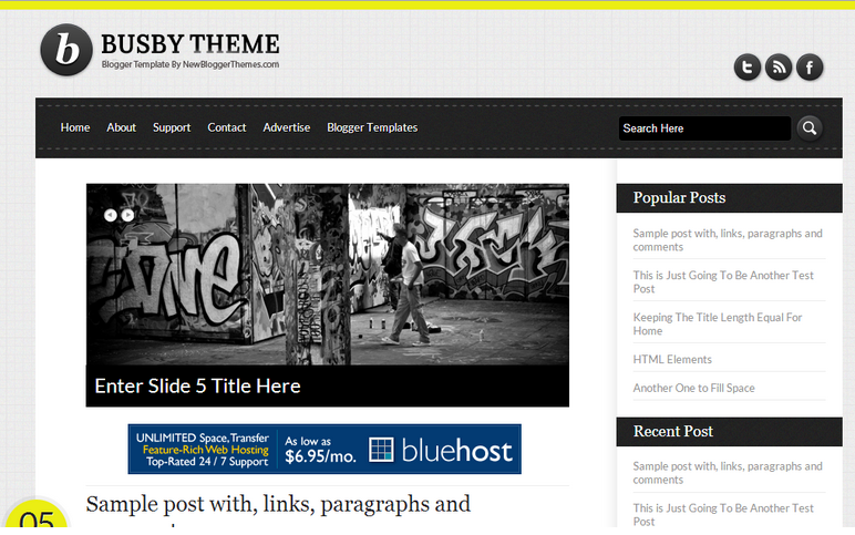 Busby Blogger Template