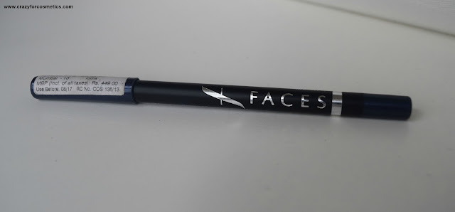 Faces Long Wear eye pencil in Navy Blue review