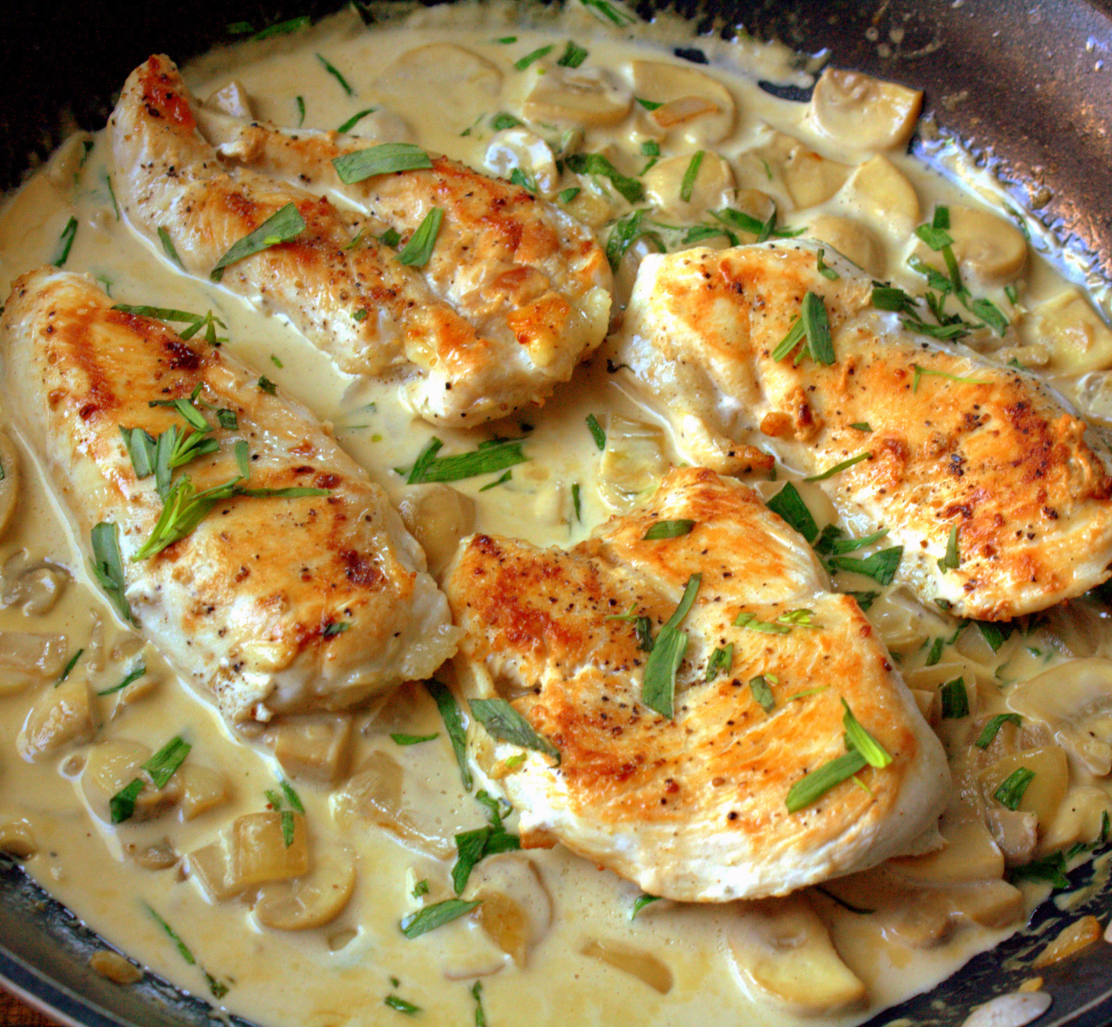 Mercado's Life Lessons: Chicken with Tarragon Cream