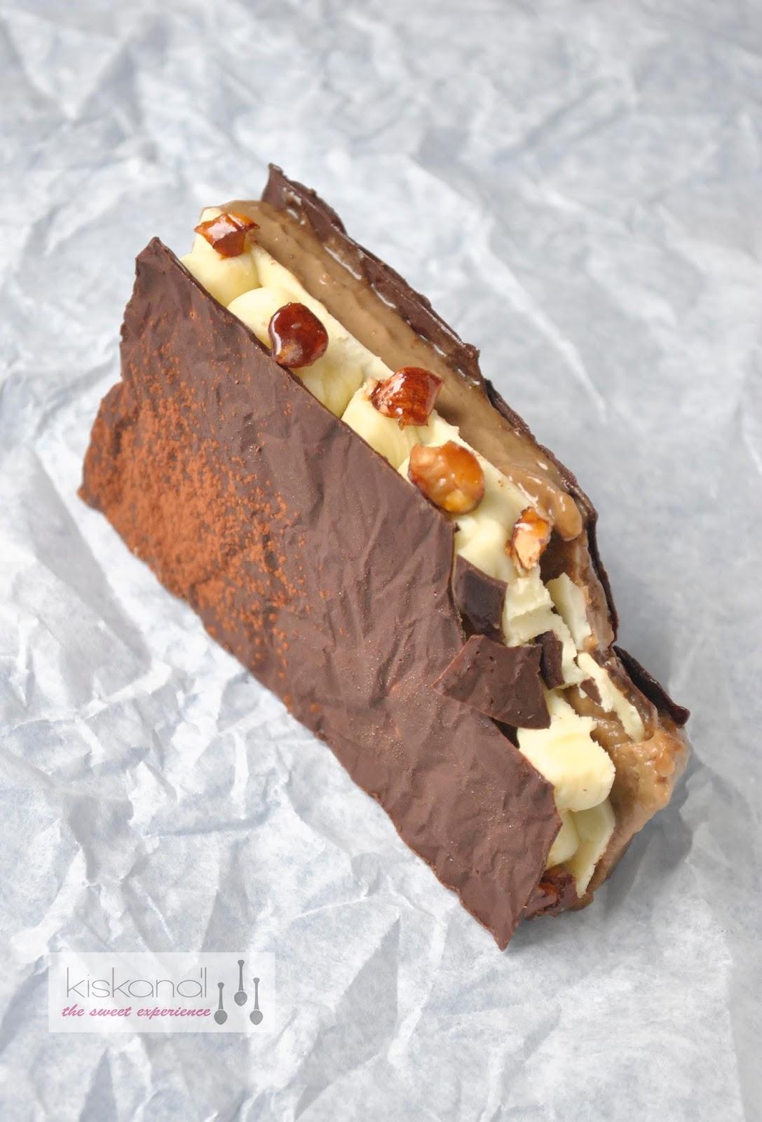 roppanós, krémes csoki szendvics