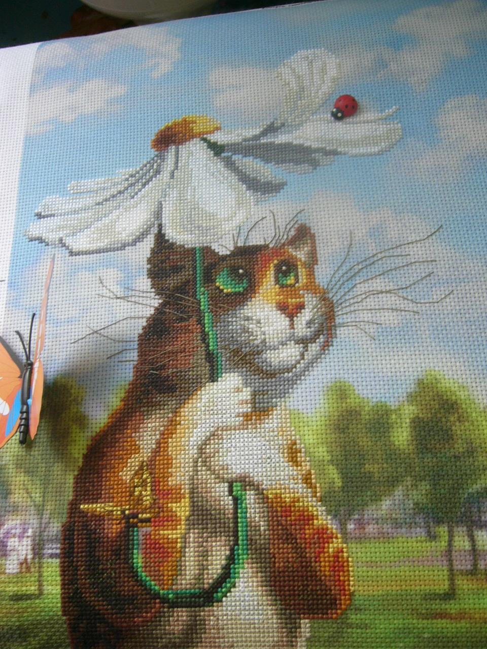 Вышивка крестом коты румянцева 18