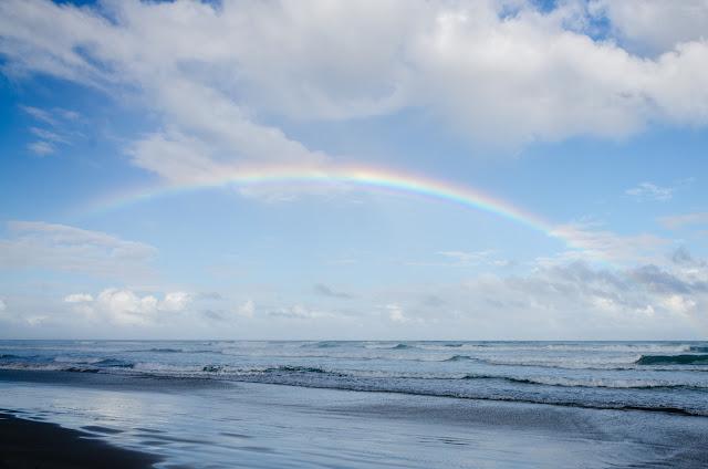 rainbow above ocean