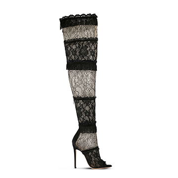 Gianvito Rossi lace stiletto boots