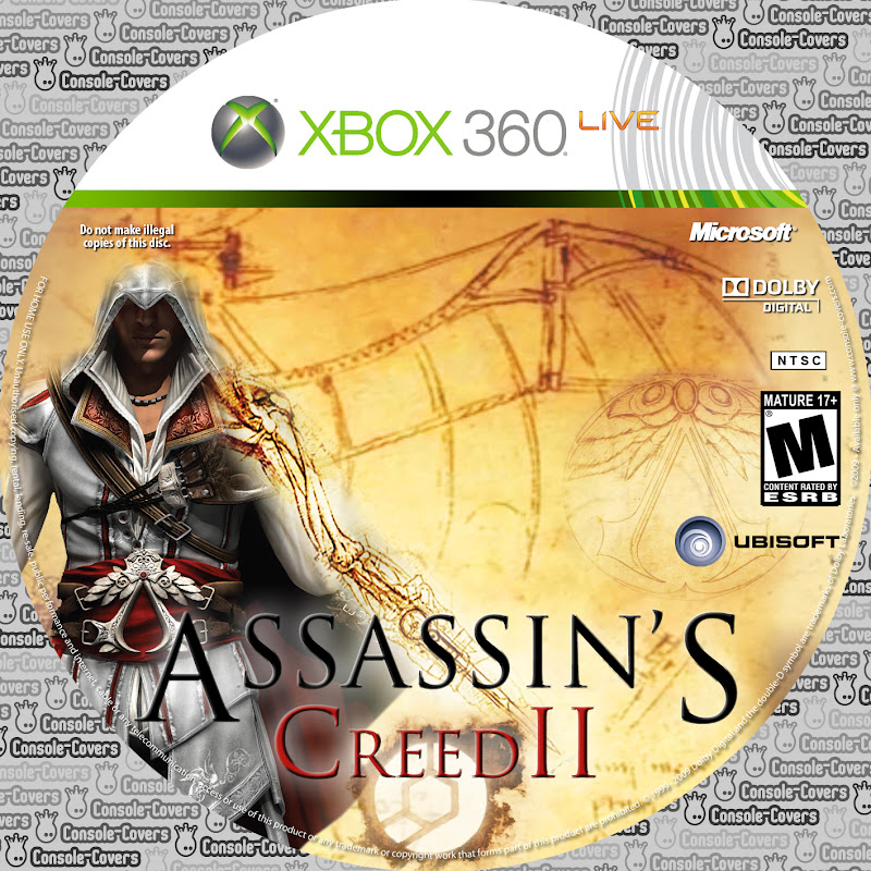 Label Assassins Creed 2 Xbox 360