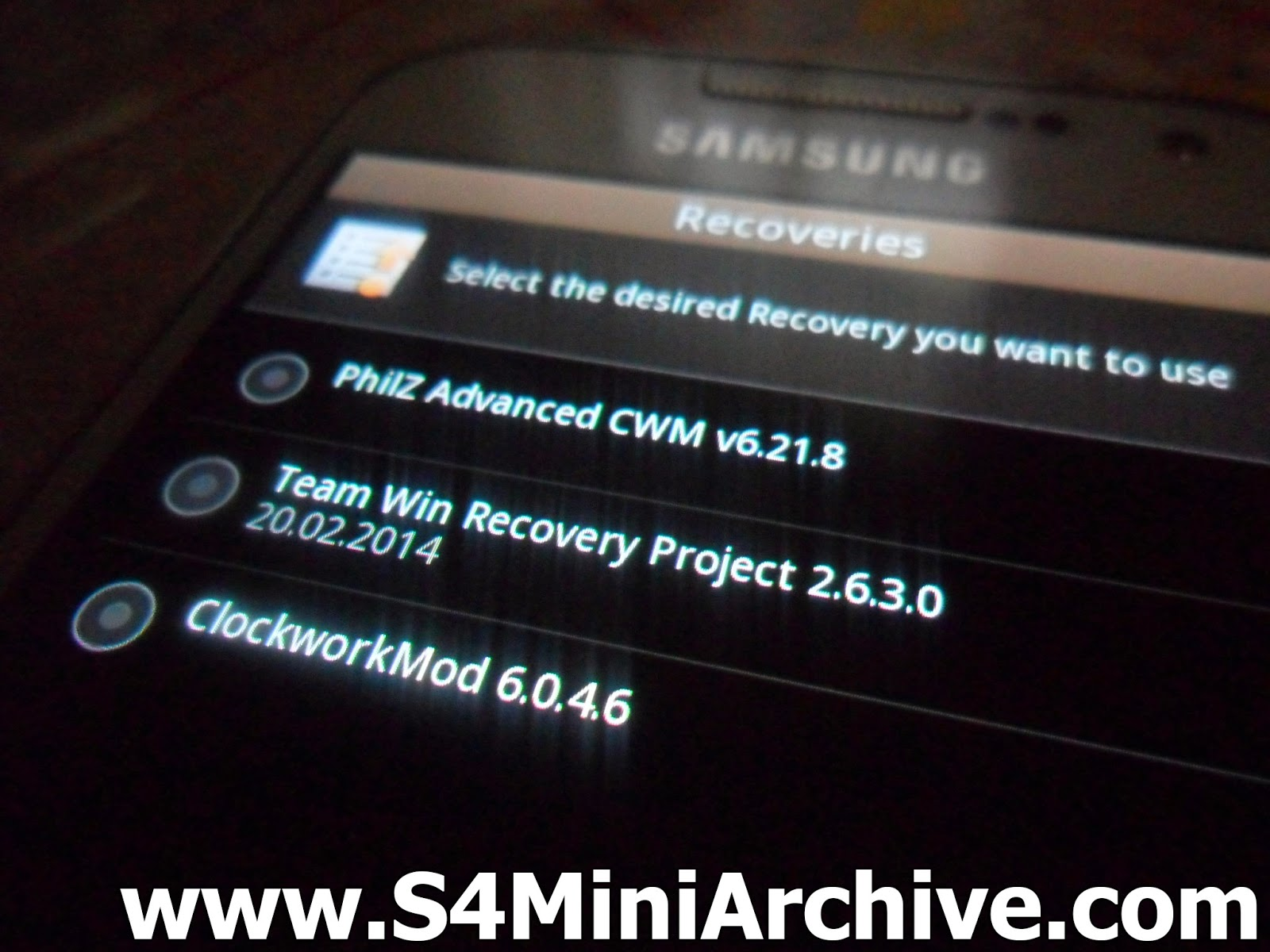 s4 mini custom recovery