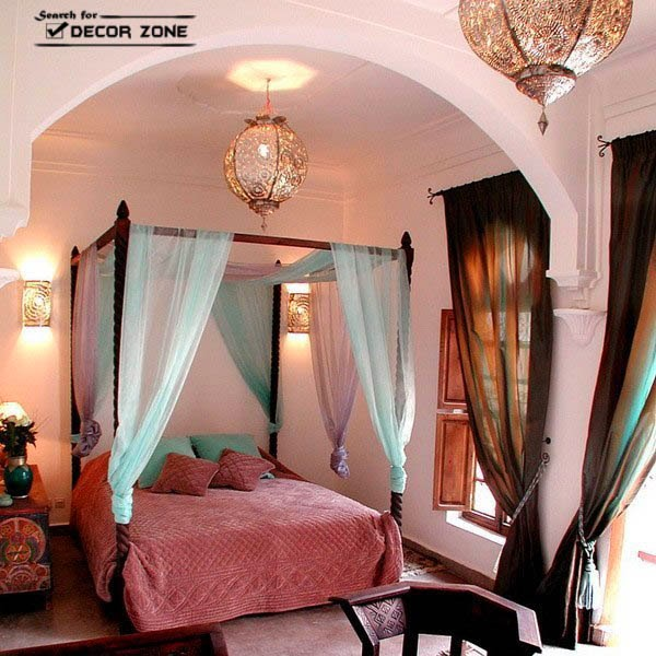 Bedroom chandeliers how to choose according to room style for Arabian bedroom ideas
