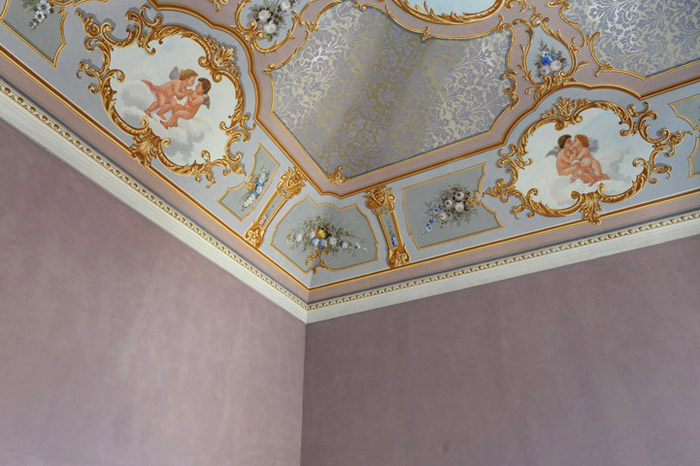 restauracion técnicas antiguas pintura techo  mural interior- paola angoletta