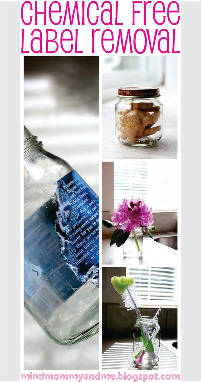 http://mimimommyandme.blogspot.com/2014/06/chemical-free-label-removal-easiest-way.html #removelabel #chemicalfree #jar #glassjar