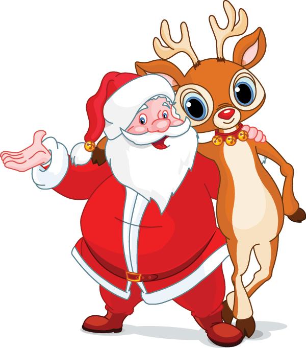 Santa and Rudolph Icons