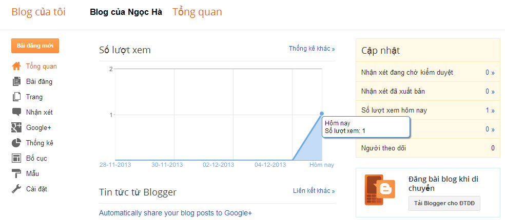 huong dan cach tao blogspot google