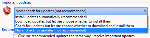 How to disable automatic updates in Windows