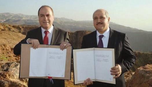 Israel y Jordania firman acuerdo Mar Muerto