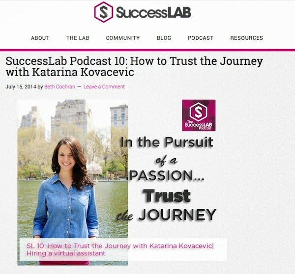 In Pursuit of a Passion...How to Trust the Journey with Katarina Kovacevic on SuccessLAB