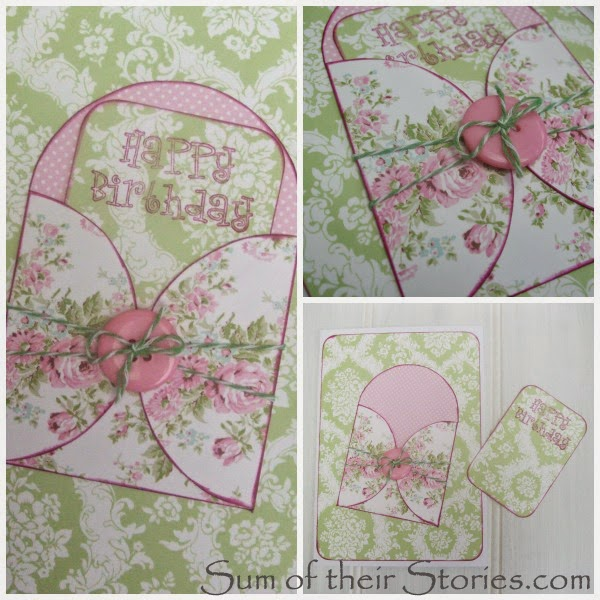 floral handmade birthday card idea