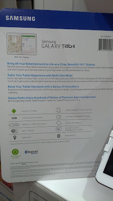The Samsung Galaxy Tablet 4 has a wide 10.1 inch display