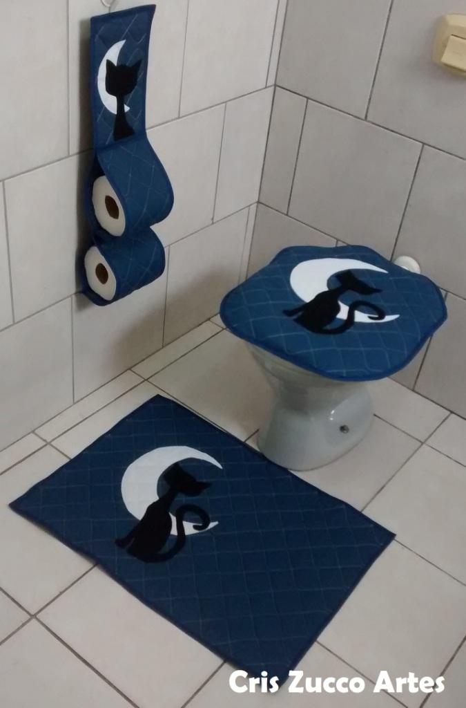 Jogo De Banheiro De Gato Croche : Cris zucco artes jogo de banheiro gato preto