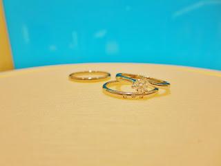 FURRER JACOT フラージャコー かわいい 青 プラチナ ダイヤモンド ミニョン 鍛造 結婚指輪 婚約指輪