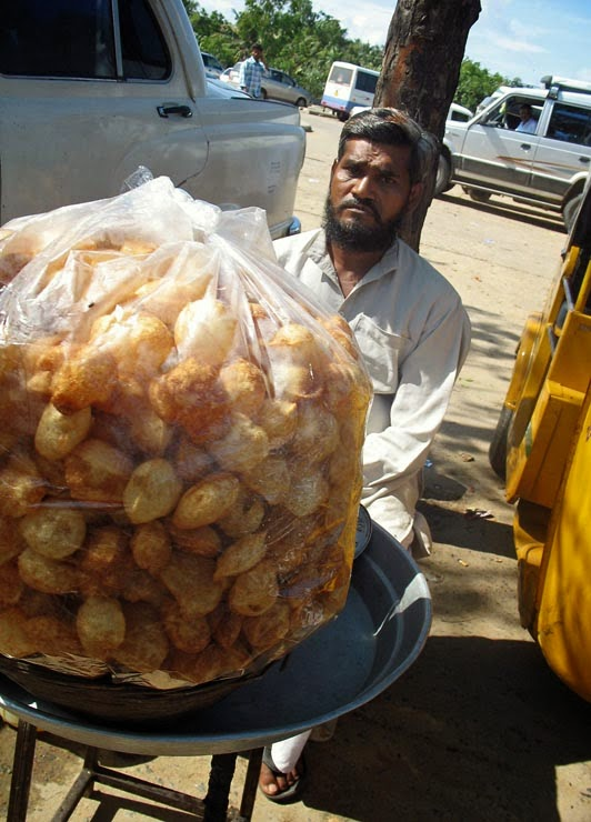 Pani Puri or Gol Gappa Vendor