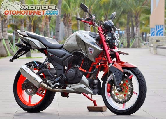 Modifikasi TVS RTR 160 Fairing dan Street Fighter 2014