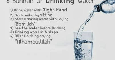 Benefits Of Drinking Water Sitting Down