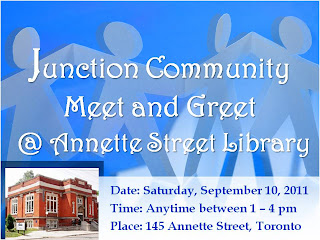 Call for Participation: Junction Community Meet and Greet at the Annette Public Library, Toronto
