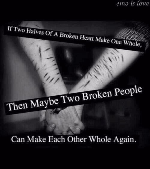 If Two Halves Of A Broken Heart Make One Whole.