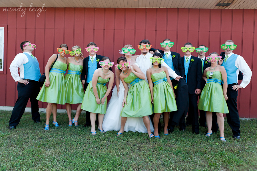 Liz And Kris And Their Entire Bridal Party Were So Much Fun. As You Can  Tell In This Photo They Were Not Afraid To Be Crazy, One Of The Couples  Even Rode ...